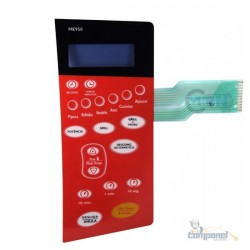 Membrana Teclado Microondas Electrolux Me950 Vermelha